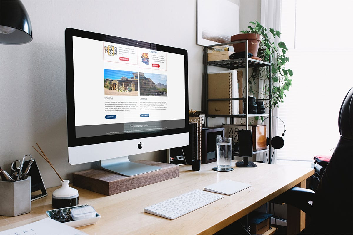 Web Development | Desktop View | Arizona Painting Company | Case Studies | Big Marlin Group
