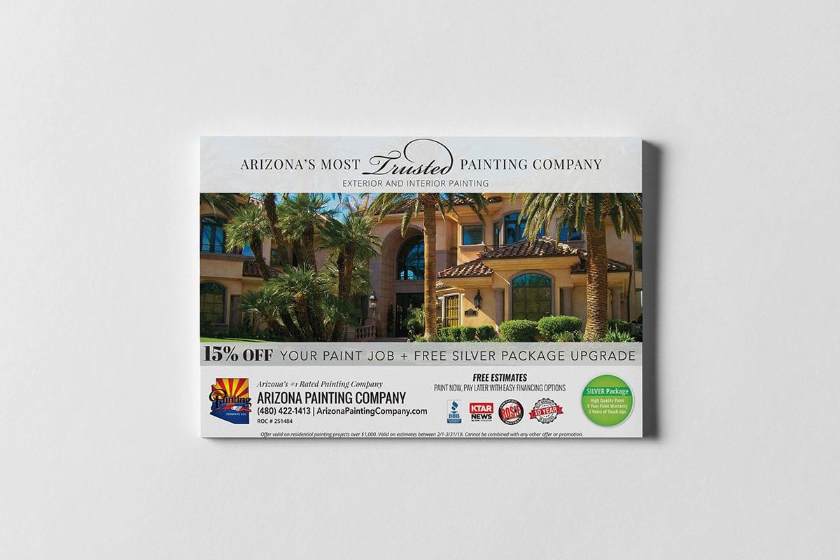 Post Card Design | Direct Mail | Arizona Painting Company | Case Studies | Big Marlin Group