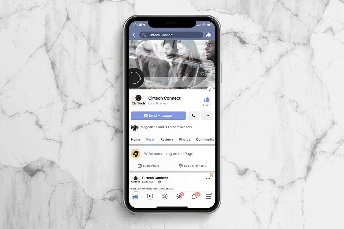 Cirtech Social Media | Mobile View | Case Studies | Big Marlin Group