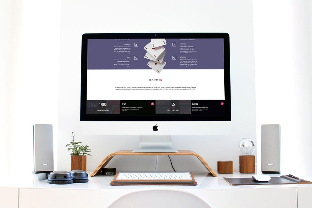 Desktop View | User-Friendly Website | Fort McDowell Casino | Case Studies | Clients | Big Marlin Group